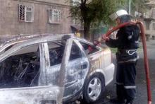 Сгорела моторная часть автомобиля