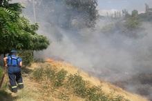 Հսկվող այրում մոտ 6500 քմ տարածքում
