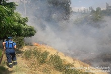 Controlled burning in about 6500 square meters territory
