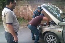 Из автомобиля произошла утечка газа