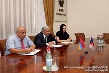 Minister Feliks Tsolakyan hosted H.E. Bedrich Kopecky, newly-appointed Ambassador of the Czech Republic to Armenia