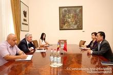 Minister Feliks Tsolakyan hosted Ambassador of the People's Republic of China in Armenia