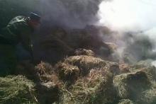 Հրդեհ Մարտունի քաղաքում. այրվել է անասնակեր