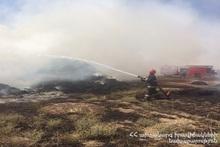 В селе Багреван сгорело около 900 тюков сена