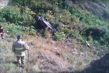 Ծղուկ-Երևան ավտոճանապարհին ավտոմեքենան ընկել է ձորը