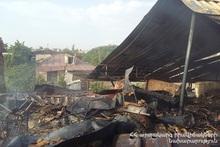 Пожар в селе Айнтап