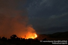 Fire in the area adjacent to Voghjaberd village: grass cover was burnt