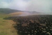 Արայի լեռան ստորոտում հրդեհաշիջման աշխատանքները շարունակվում են (խմբագրված)