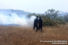About 50 ha of grass cover was burnt in Proshyan village