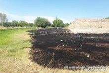 Fire in Vanadzor town: about 5 ha of grass cover was burnt