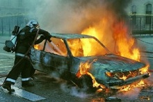 Ավտոմեքենան ամբողջությամբ այրվել է. տուժածներ չկան
