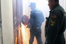 Rescuers opened locked doors