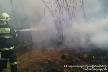 Fire in Ghursal village
