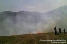 В городе Сисиан сгорело около 10 га травяного участка