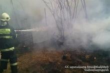 Пожар в селе Хурсал