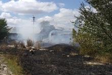 Пожарные-спасатели потушили 13 пожаров на травяных участках около 15200 квадратных метров с участием 13 пожарно-спасательных отрядов