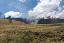 Firefighters extinguished 19 fires broken out in about 9.5 ha of grass area involving 21 fire and rescue squads