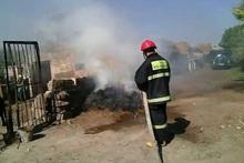 В селе Аргина сгорели тюки сена