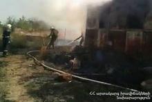 Пожар в городе Арташат: пострадавших нет