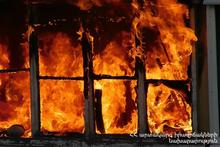 Пожар в городе Спитак: пострадавших нет