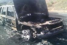 Car and grass area were burnt in Saravan village