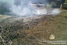 В селе Джрашен сгорели тюки сена