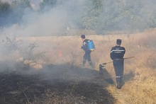 Firefighters extinguished fires broken out in grasslands with a total area of about 75 hectares
