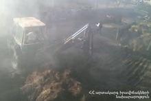 Fire in Dzoragyugh Village: forage was burnt