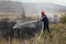 Firefighters extinguished fires broken out in grasslands with a total area of about 7.5 hectares