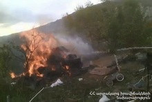 About 150 bales of hay were burnt