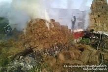 Fire in Nerkin Getashen village