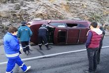 """Car turned over near """"Parvana"""" restaurant complex"""