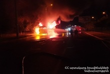 Fire in a bus: there were no casualties