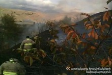 В селе Ацаван сгорело около 6 га травяного покрова