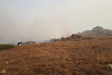 Սյունիքի մարզի Ախլաթյան գյուղին հարակից սարում այրվել է մոտ 300 հա խոտածածկույթ