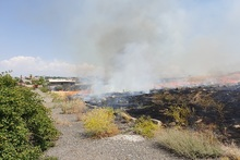 Firefighters extinguished fires broken out in grasslands with a total area of about 32 hectares