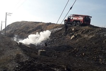 Firefighters extinguished fires broken out in grasslands with a total area of about 11.3 hectares