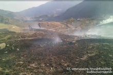 Fruit trees and about 20 ha of grass cover were burnt in Noravan village