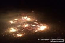 Пожар в селе Верин Кармирахпюр Тавушского марза