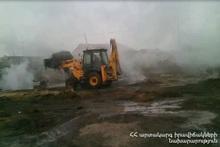 Пожар в городе Армавир