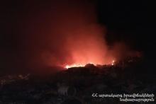 Возле села Цовагюх с двумя очагами сгорел травяной покров