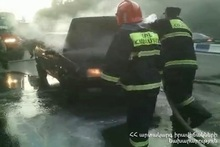Fire in a car: there were no casualties