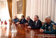 Феликс Цолакян принял делегацию во главе с заместителем министра по ЧС РФ Николаем Гречушкиным