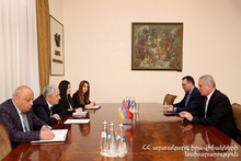 Feliks Tsolakyan hosted the newly appointed Ambassador Extraordinary and Plenipotentiary of Romania in the Republic of Armenia Cornel Ionescu