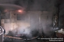 An uninhabited small house was completely burnt in Zaryan street