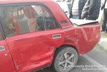 Three cars collided at the crossroad of A. Babajanyan and Z. Andranik streets