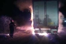 Truck coupler was partly burnt on Goris-Kapan roadway