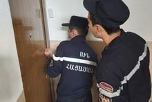 Rescuers opened locked doors