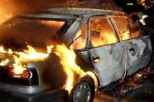 Firefighters extinguished fire broken out in a car: there were no casualties