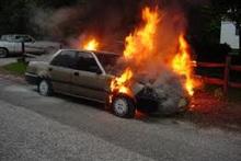 Car burnt down